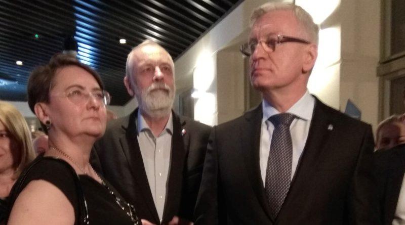 Jacek Jaśkowiak, Joanna Jaśkowiak i Rafał Grupiński fot. Karolina Adamska