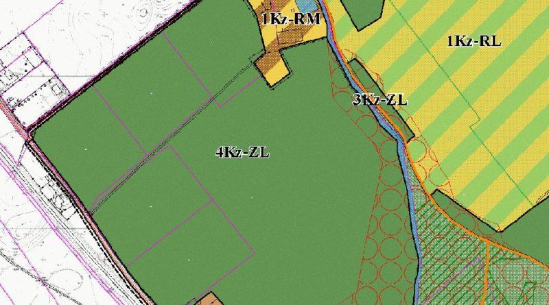 fragment mapy miejscowego planu zagospodarowania przestrzennego obaszr ktory inwestor chcialby zabudowac oznaczony jest symbolem 4kz zlpic11016124517211125show2 800x445 - Miasto nie pozwoli na zabudowanie klina zieleni