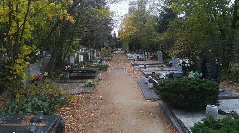 grób na cmentarzu