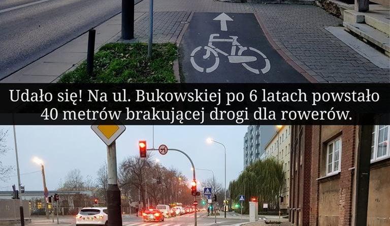 Droga rowerowa Bukowska/Polna