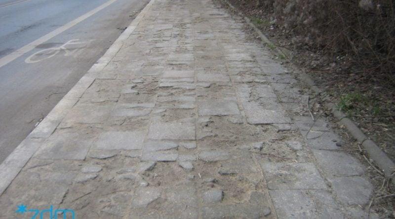 Remont chodnika na ul. Pułaskiego