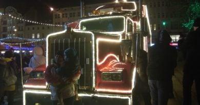 Ciężarówka Coli odwiedziła Poznań