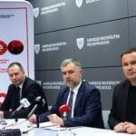 od lewej Bogdan Czaja, Marek Woźniaki i Marcin Perzyna