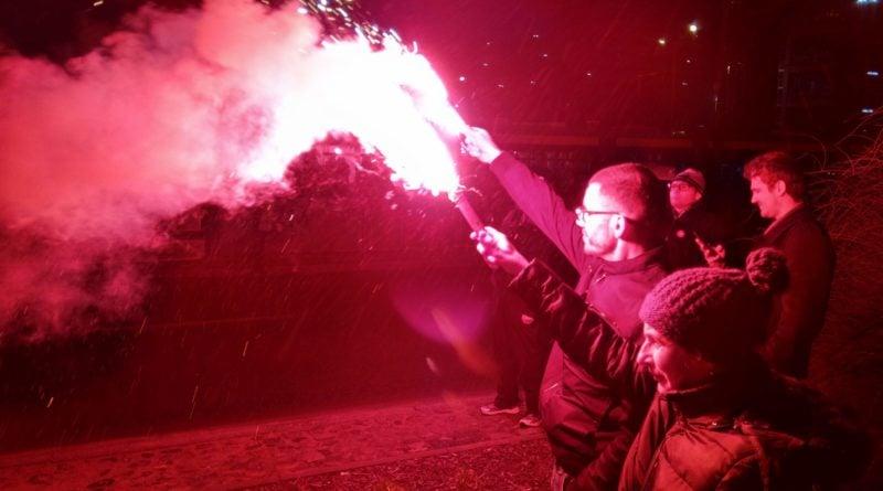 racowisko 6 800x445 - Miasto zapłonęło - niesamowita iluminacja kibiców