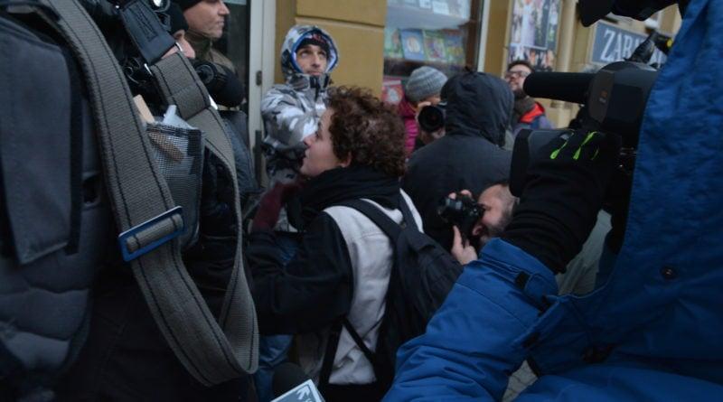 stanislaw michalkiewicz 14 800x445 - Stanisław Michalkiewicz w Poznaniu - protesty