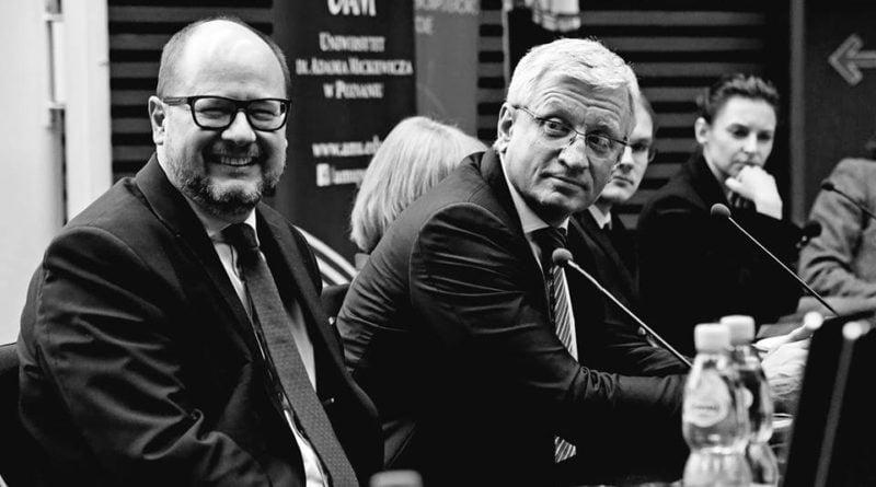 Prezydent Paweł Adamowicz w towarzystwie Jacka Jaśkowiaka