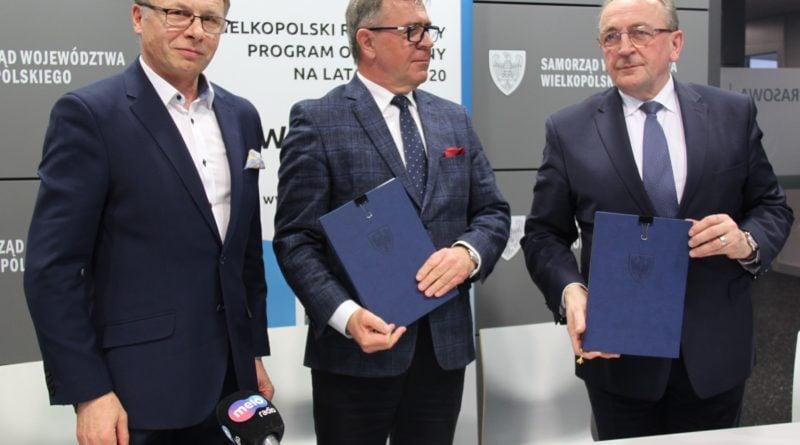Tadeusz Czajka, Jan Grabkowski i Wojciech Jankowiak fot. UM