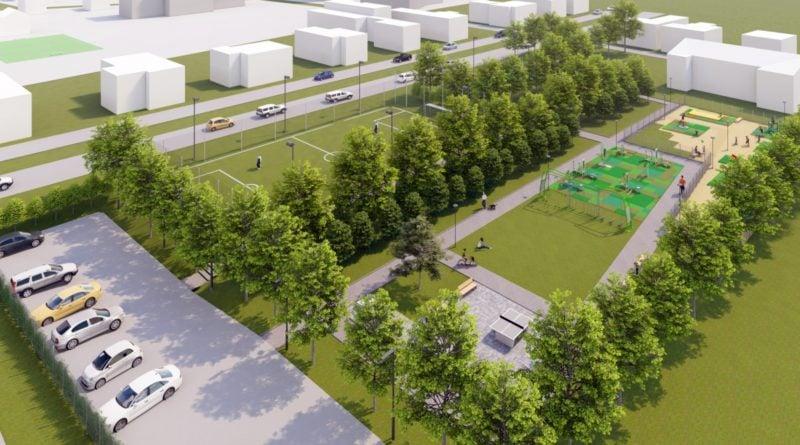 Tak ma wyglądać nowy park na Starołęce fot. PIM wizualizacja