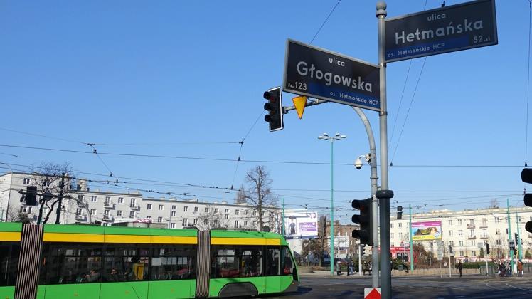 po zakonczeniu prac zdm i mpk wymalowane zostanie przejscie dla pieszych przez ul glogowskapic11016130941225689with ratio16 9 - Poznań: Prace na skrzyżowaniu Głogowska/Hetmańska