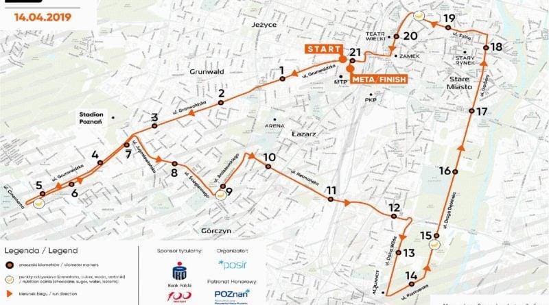 trasa biegu fot. ump 800x445 - Poznań: Półmaraton. Dużo zmian w organizacji ruchu
