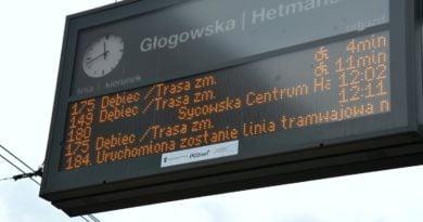 komunikacja miejska tablica fot. UMP ZTM