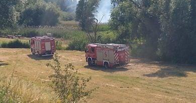 pozar zawady fot. pawel 11 390x205 - Kolejny pożar traw! Tym razem w Stęszewie
