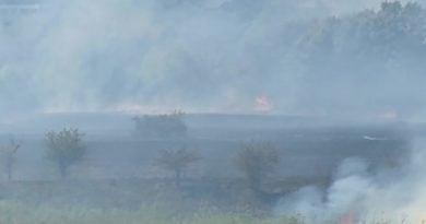 pozar zawady fot. pawel 3 390x205 - Wielkopolska: Strażacy z naszego regionu walczą z pożarem Biebrzańskiego Parku Narodowego