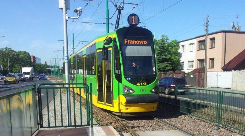 """tramwaj nr 1 franowo fot. ump ztm 800x445 - Poznań: Powstanie trasa tramwajowa na Marcelin? """"Nie chcemy, by Marcelin stał się drugim Mordorem"""""""
