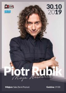 koncert rubik plakat v1 214x300 - Moja Historia - Piotr Rubik w Poznaniu