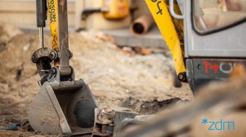 kanalizacja sanitarna fot. zdm 800x445 - Poznań: Budowa kanalizacji sanitarnej i utrudnienia wokół Dąbrowskiego