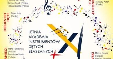 letnia akadermia kalisz plakat 390x205 - Kalisz: Instrumenty dęte zagoszczą nad Prosną