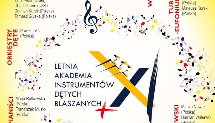 letnia akadermia kalisz plakat - Kalisz: Instrumenty dęte zagoszczą nad Prosną