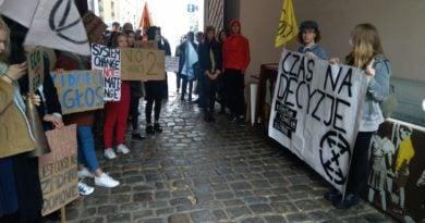 demonstracja Młodzieżowy Strajk Klimatyczny