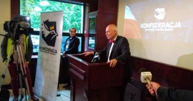 Janusz Korwin-Mikke w Poznaniu Konfederacja