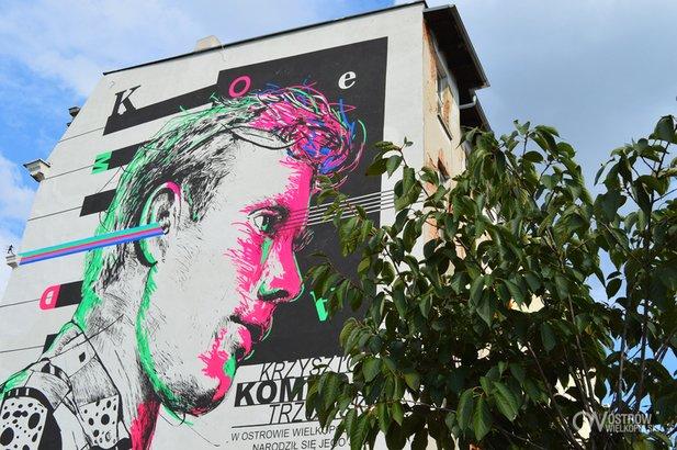 Mural z Komedą fot. UM Ostrów