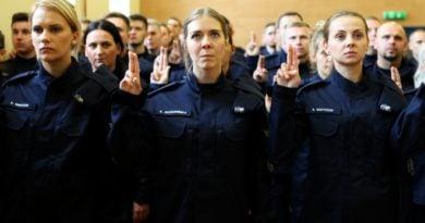 Policja ślubowanie, fot. KWP