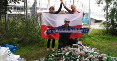 Sprzątanie okolic stadionu Lecha fot. FB Miquel Garau Ginard