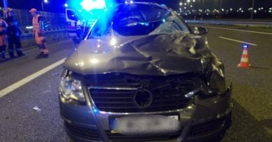 wypadek gliwice fot. ksp 390x205 - Leszno: Tragiczna śmierć policjanta