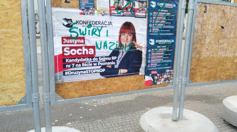 Konfederacja zniszczony plakat wyborczy