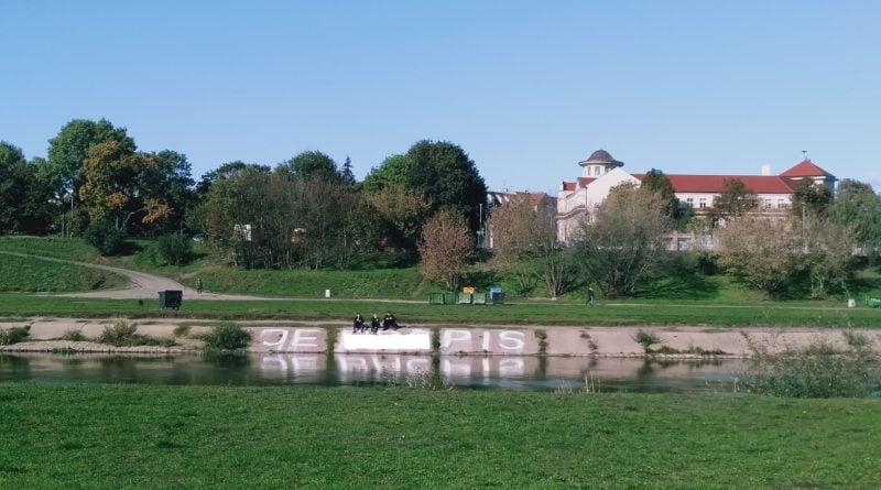 pis warta 2 800x445 - Poznań: Wulgarny napis nad Wartą. Na temat PiS