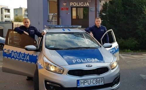 policjanci z chodziezy fot. kwp - Chodzież: Policjanci uratowali życie niedoszłemu samobójcy