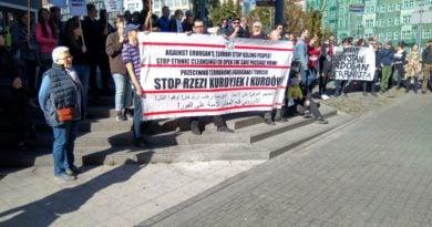 protest na Półwiejskiej