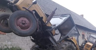 rolnik wypadek fot. policja