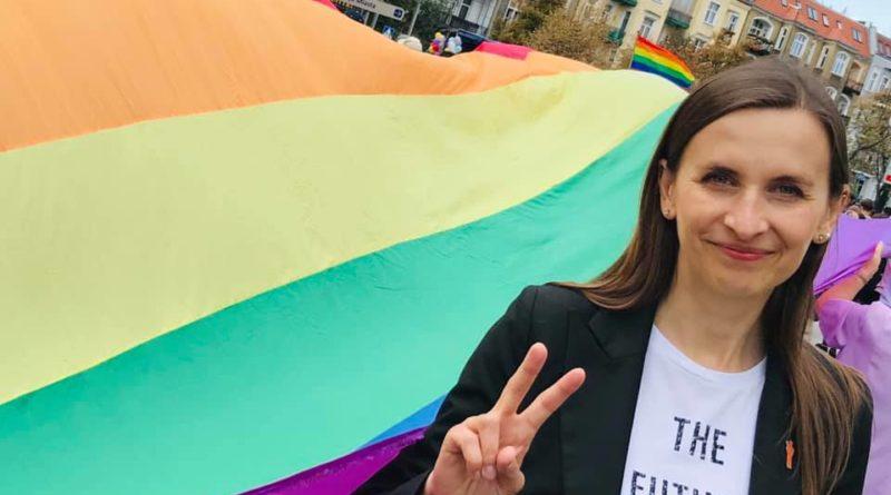 Sylwia Spurek podczas Marszu Równości fot. FB Sylwia Spurek