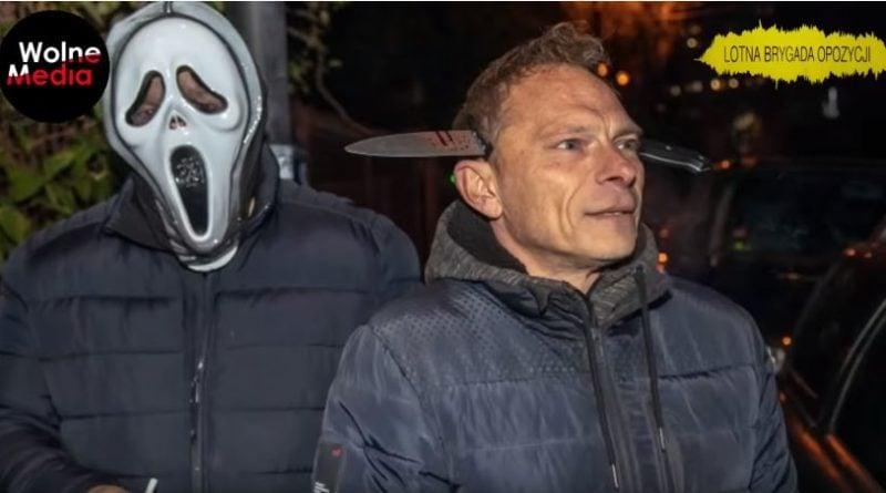 akcja pod domem Jarosława Kaczyńskiego fot. youtube Wolne Media