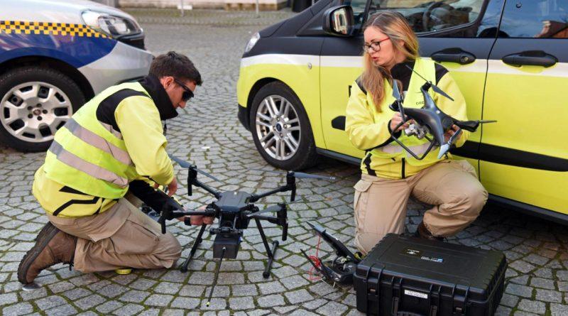 badanie dronem fot. ump 800x445 - Poznań: Dron nad miastem. Czym grozi spalanie odpadów?