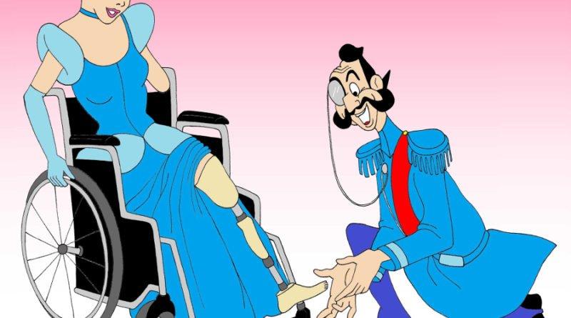cinderella disabled disney princess by alexsandro palombo weba 800x445 - Poznań: aleXsandro Palombo: księżniczki Disneya i gwiazdy jako ofiary przemocy domowej