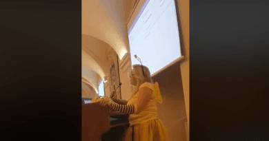 Halina Owsianna przebrana za pszczołę fot. FB Katarzyna Kierzek Koperska