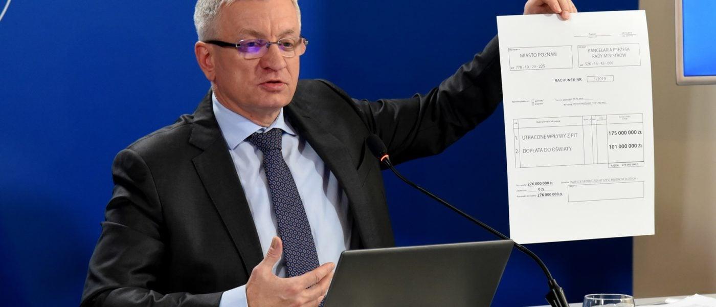 Jacek Jaśkowiak wystawia rachunek rządowi fot. UMP