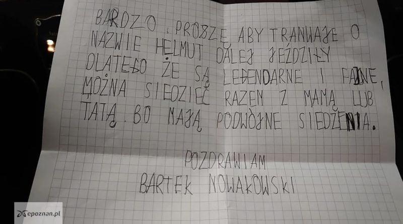 List Bartka fot. KMPS