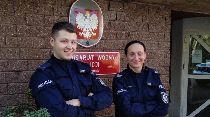 sierż. sztab. Karolina Kunkel i sierż. Wiktor Pawłowski fot. kmp