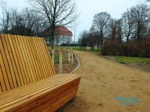 """skwer na lazarzu fot. zdm 3 300x225 - Poznań: Modernizacja skweru na Łazarzu. Przypomina """"mini park"""""""