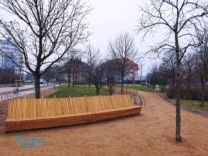 """skwer na lazarzu fot. zdm 4 300x225 - Poznań: Modernizacja skweru na Łazarzu. Przypomina """"mini park"""""""