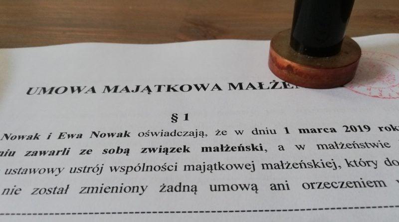 Przykładowa umowa, fot. Rada Izby Notarialnej w Poznaniu