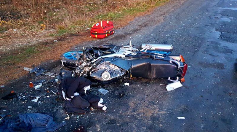 wypadek 2 fot. osp cieszkow 800x445 - Cieszków: Motocyklista zginął w wypadku
