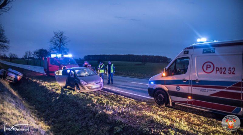 Wypadek 2 fot. OSP Koźmin Wielkopolski
