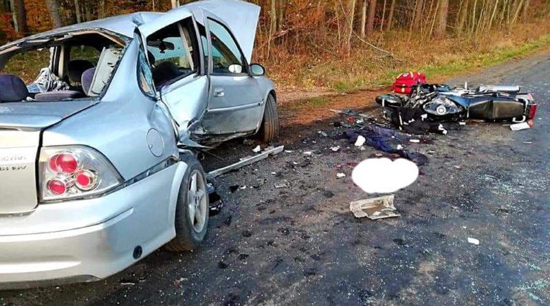 wypadek 4 fot. osp cieszkow 800x445 - Cieszków: Motocyklista zginął w wypadku