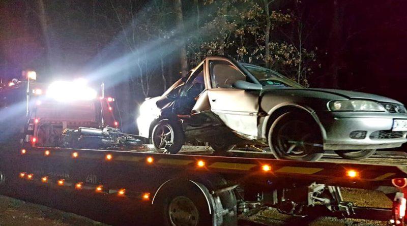 wypadek fot. osp cieszkow 800x445 - Cieszków: Motocyklista zginął w wypadku