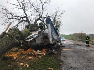 wypadek fot. OSP Łobżenica