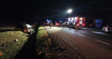 wypadek fot. OSP Miłosław